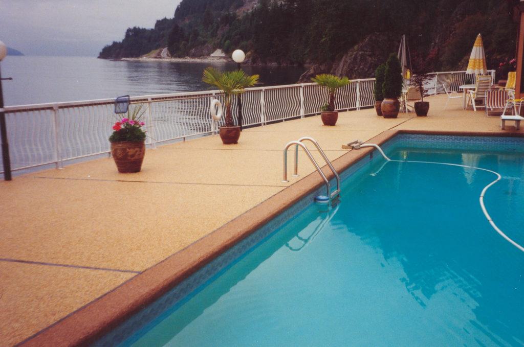 Rustic Terrazzo Pool, West Vancouver, BC